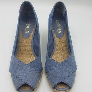 Lauren Ralph Lauren Peep toe wedges
